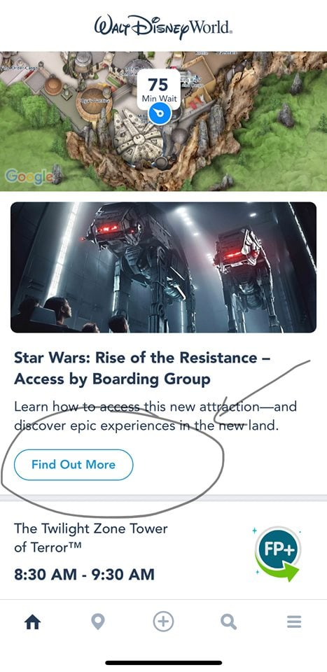 My Disney Experience App Rise of the Resistance