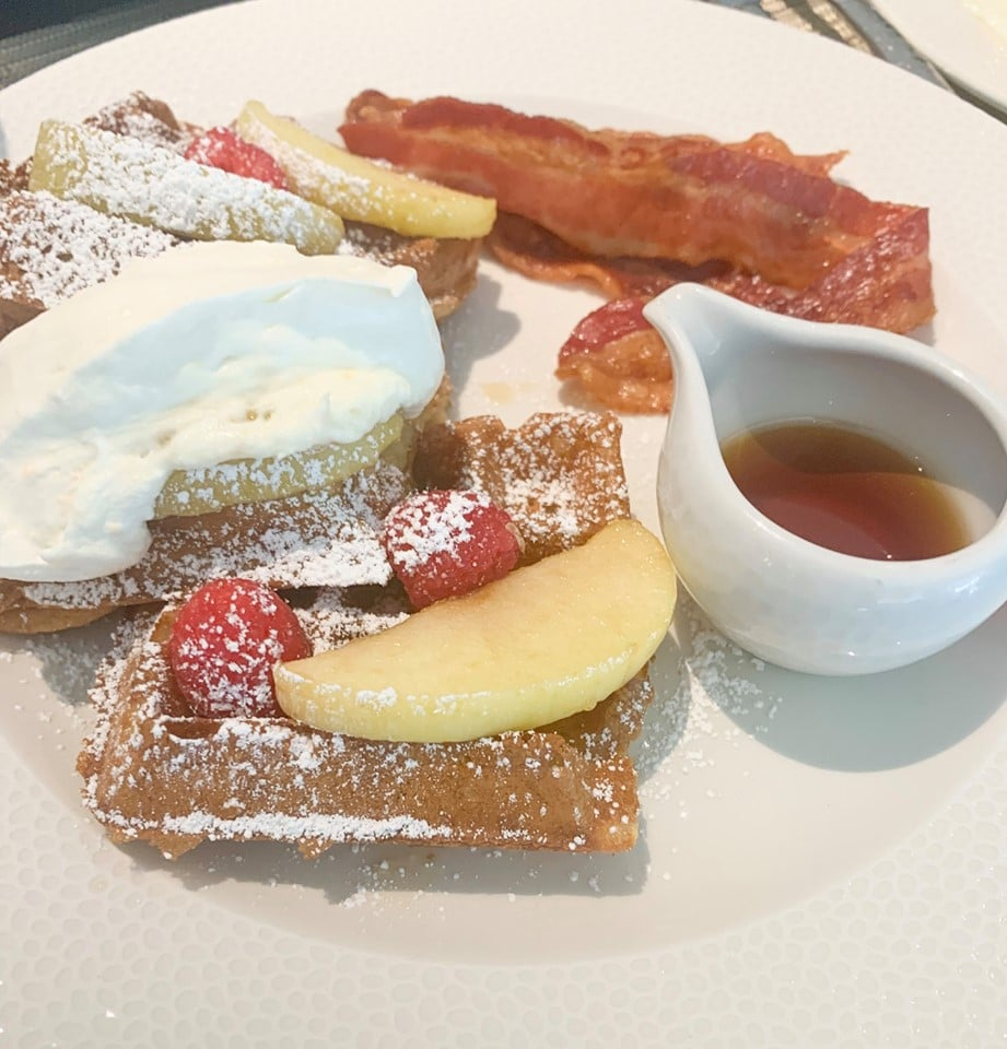 Sour Cream Waffles at Topolino's Terrace Breakfast Riviera Resort