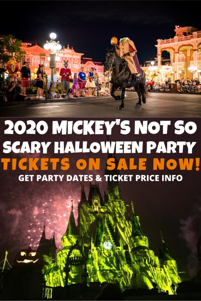 2020 Mickey's Not So Scary Halloween Dates and Ticket Info