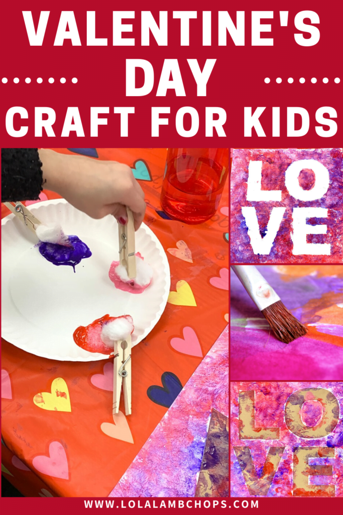 Valentine's Day Paint Craft for Preschoolers