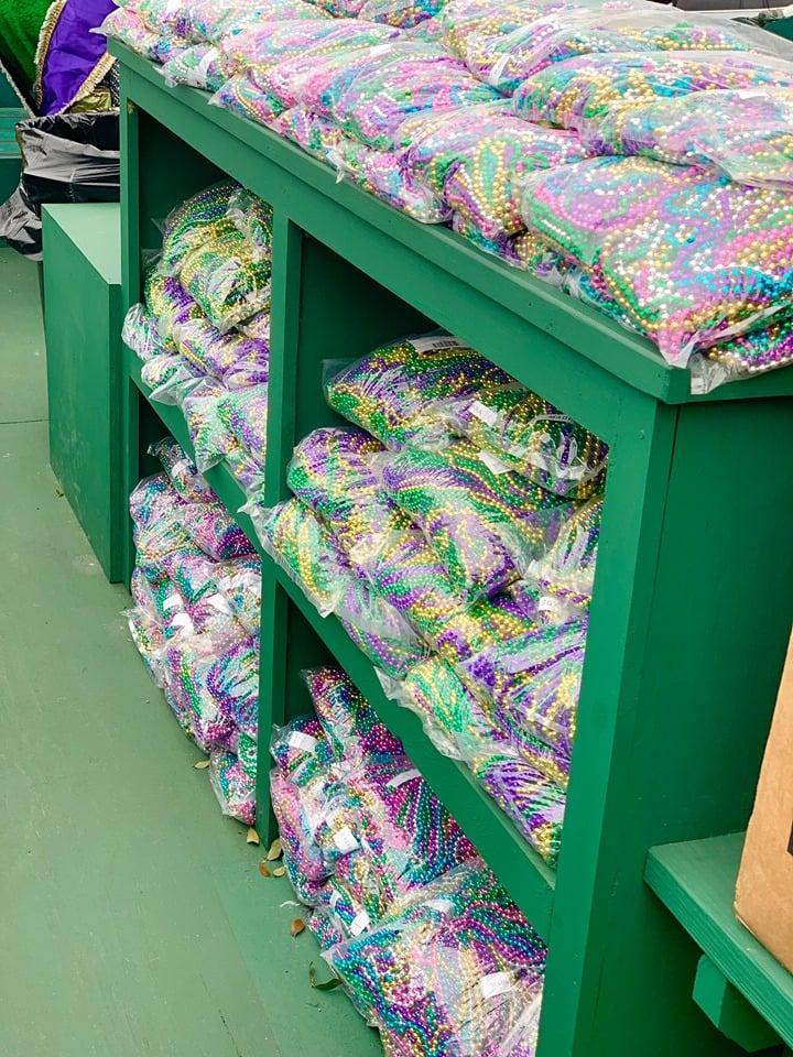 Mardi Gras Beads at Lake Charles