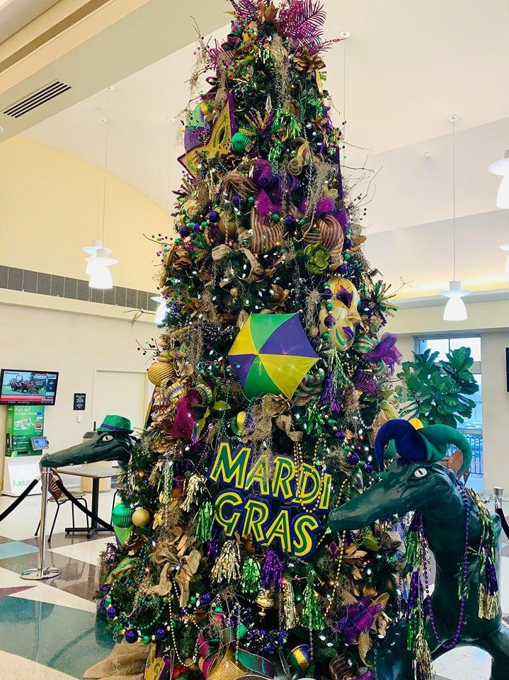Mardi Gras Tree Lake Charles Airport