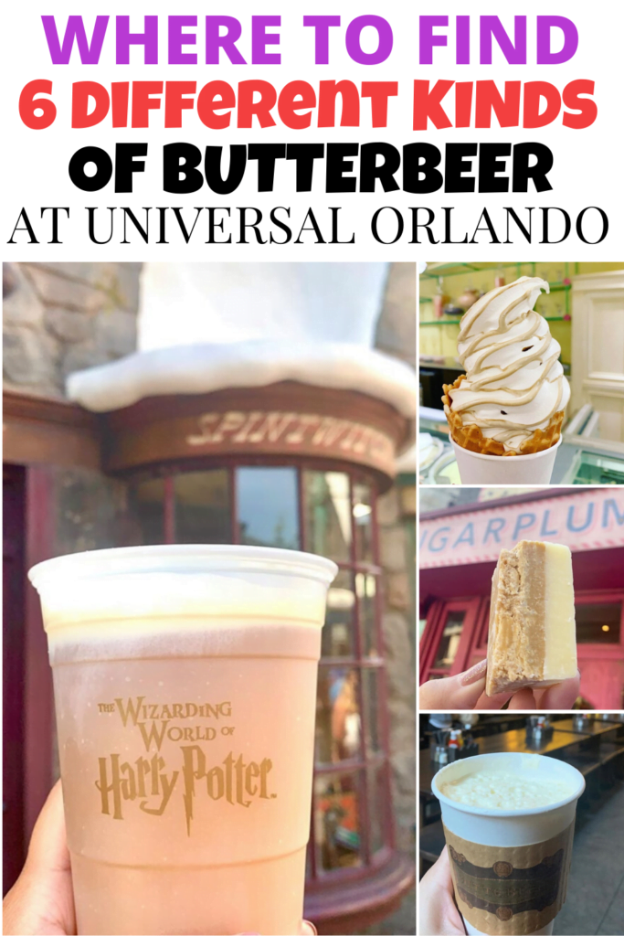 6 Different Types of Butterbeer at Universal Studios