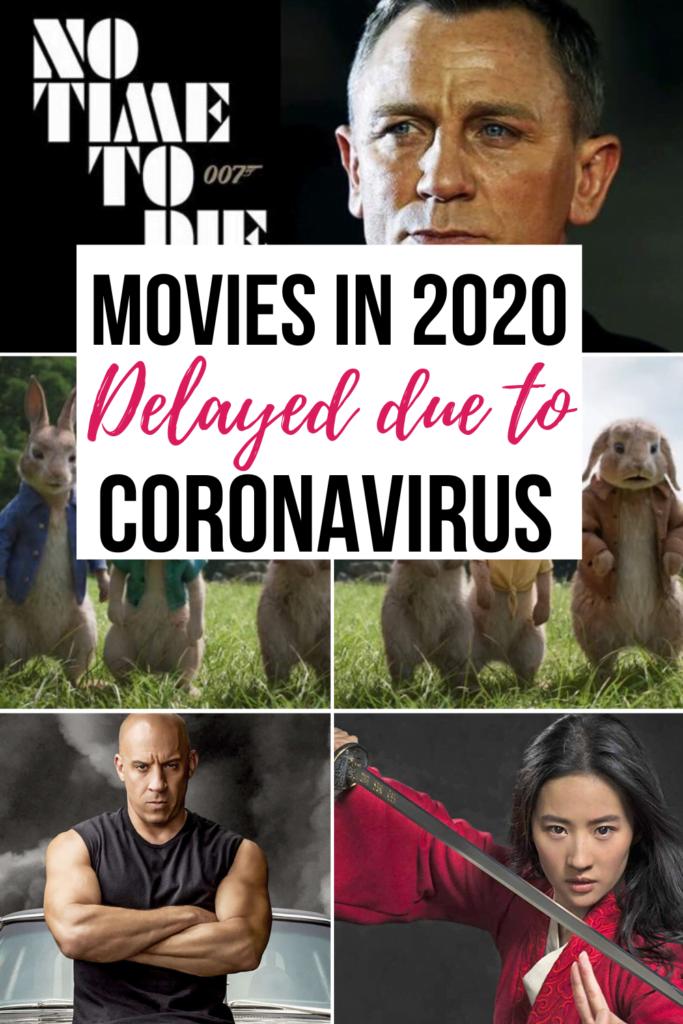 Delayed movies in 2020 because of Coronavirus