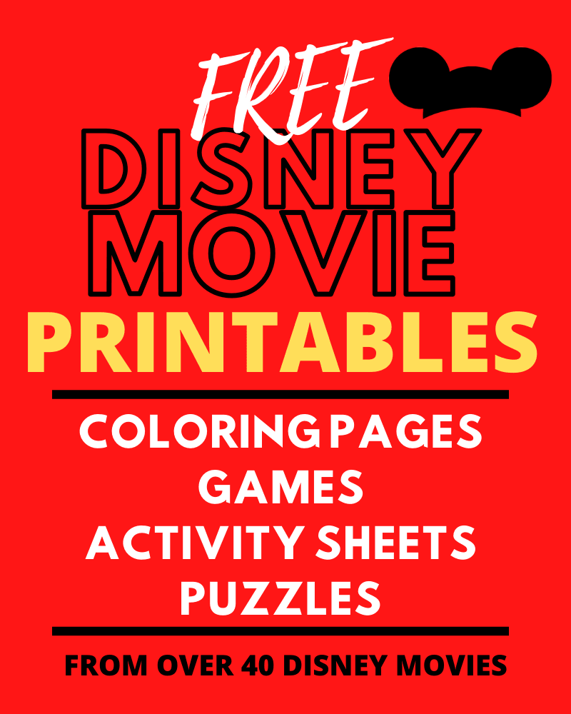 FREE Disney Movie Printable Games and Puzzles