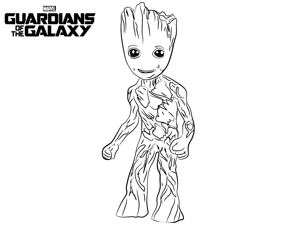 Groot Disney Coloring Page