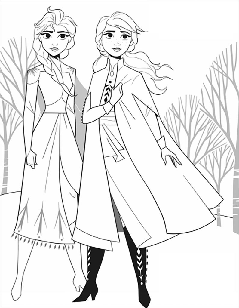 Disney Frozen 2 Coloring Pages